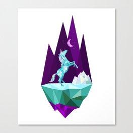 unicorn stand alone Canvas Print