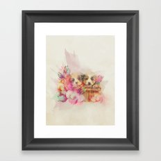 Puppy Love Framed Art Print