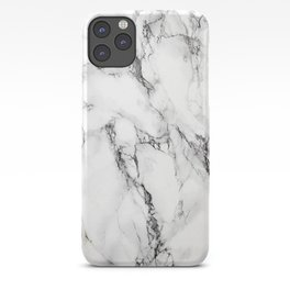 White Faux Marble Texture iPhone Case