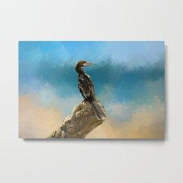 Anhinga Digital Painting Metal Print