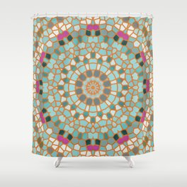 Mosaic 4m Shower Curtain