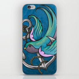 Vintage Tattoo Style Swallow iPhone Skin