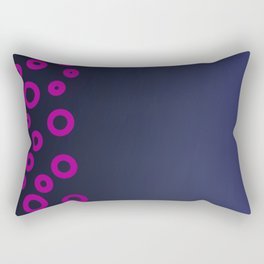 Pink ethno dots on blue deep Rectangular Pillow