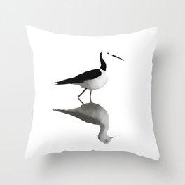 Pied Stilt Throw Pillow