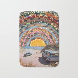 Summer Orange Sunset Bath Mat