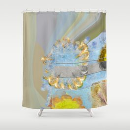 Hurtles Content Flower  ID:16165-095624-24981 Shower Curtain