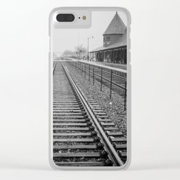 Winter Commute Clear iPhone Case