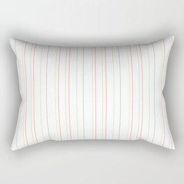 Pastel orange green watermelon modern stripes pattern Rectangular Pillow