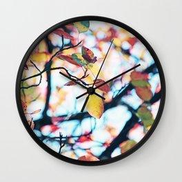 Happy Autumn Colors Wall Clock