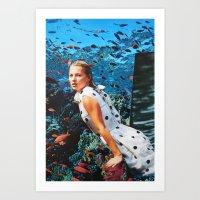 kate moss Art Prints featuring Kate Moss by John Turck