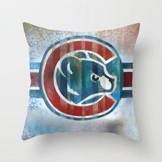 Bleed Cubbie Blue Throw Pillow