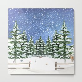 A Winter's Night Metal Print