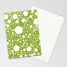 "Kalinka. ""Avocado green"" color Stationery Cards"