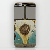 vw iPhone & iPod Skins featuring VW Rusty by Alice Gosling
