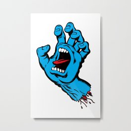 Screaming Hand (1985) Metal Print