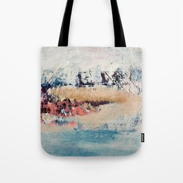 Artemis [2]: a gorgeous minimal abstract piece in purples blues and gold by Alyssa Hamilton Art Tote Bag