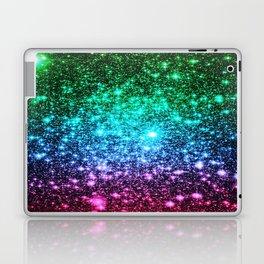glitter Cool Tone Ombre (green blue purple pink) Laptop & iPad Skin
