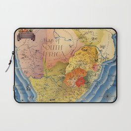 Map Of South Africa 1937 Laptop Sleeve