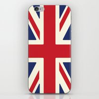 uk iPhone & iPod Skins featuring UK by Lucy Jacquard