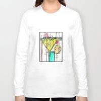 martini Long Sleeve T-shirts featuring Dirty Martini by Ingrid Padilla