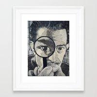 salvador dali Framed Art Prints featuring Salvador Dali by Lyneth Morgan