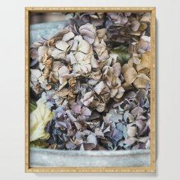 bouquet of dried hydrangeas Serving Tray
