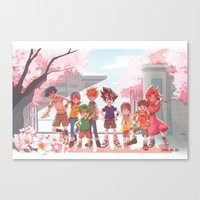 digimon Canvas Prints featuring DIGIMON ADVENTURE by luttu