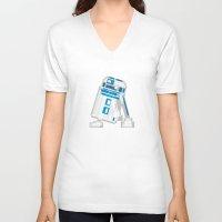 r2d2 V-neck T-shirts featuring R2D2 by Vulgosclub