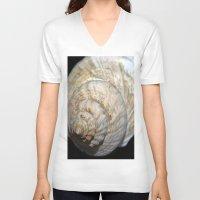 shell V-neck T-shirts featuring Shell by Brian Raggatt