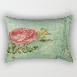 Paris Rose Rectangular Pillow