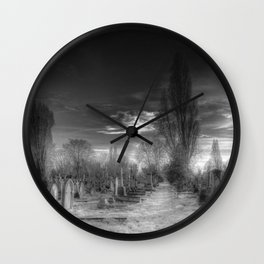 Ghostly Kensal Green Cemetery London Wall Clock