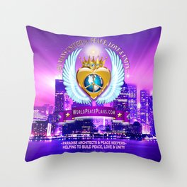 Humans United for Peace Throw Pillow
