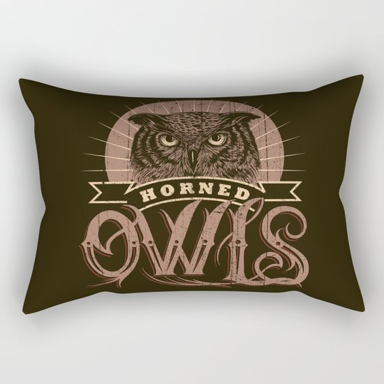 Team Owl Rectangular Pillow