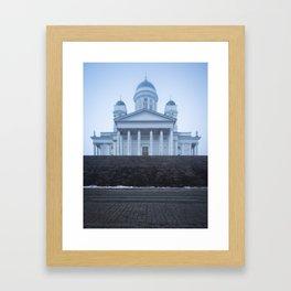 Helsinki Cathedral in Fog Framed Art Print