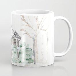 Thistlewood Farm, Watercolor, Farmhouse, Red Door, Kentucky Coffee Mug