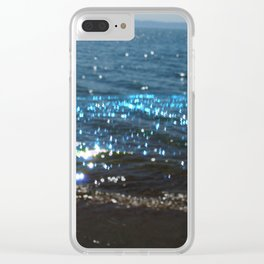 Sparking Blue Clear iPhone Case