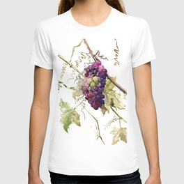 Grapes, California Vineyard Wine Lover design T-shirt