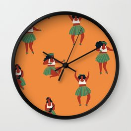 Hula dancers Wall Clock