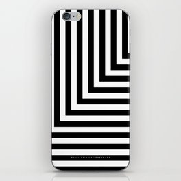 Black and White L Stripes // www.pencilmeinstationery.com iPhone Skin