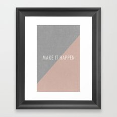 Concrete & Letters Framed Art Print