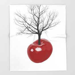 Cherry tree of cherries Throw Blanket