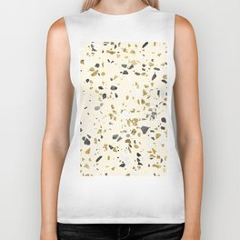 Glitter and Grit Yellow Gold Marble Biker Tank
