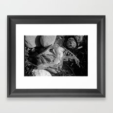 Fish head Framed Art Print
