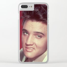 ELVIS PRESLEY - RED Clear iPhone Case