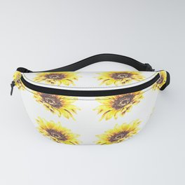 Watercolor Sunflower Petal Pattern Fanny Pack