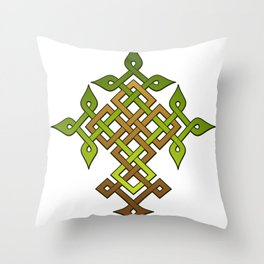 Celtic knotwork Tree Throw Pillow