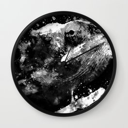 perfect chameleon black white Wall Clock