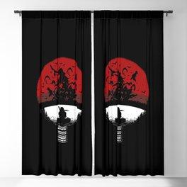 Uchiha Clan Silhouette Blackout Curtain