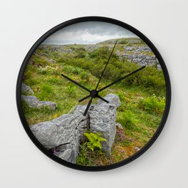Cloudy Poulnabrone Landscape Wall Clock
