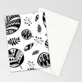 Graphical fall of the leaves Stationery Cards
